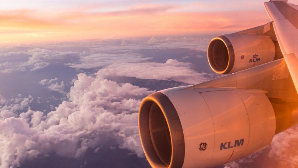 klm თვითმფრინავის ფრთა